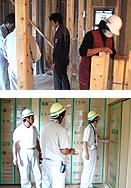 家造りの流れ 14.定例打合せ会開催/お施主様・当社エンジニア・担当棟梁