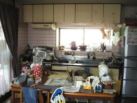 熊本県菊池郡 キッチンリフォーム 施工前