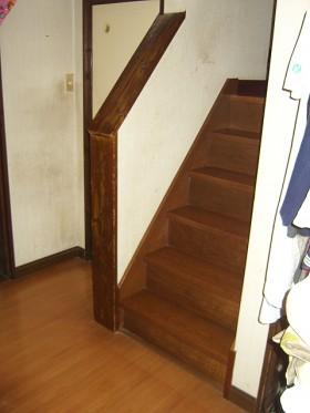 熊本県菊池郡 階段リフォーム 施工前