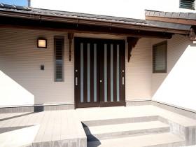熊本県荒尾市 玄関外部リフォーム 施工後