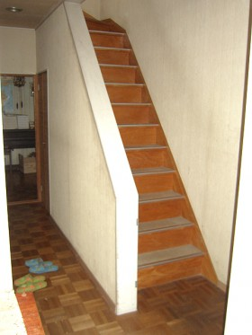 熊本県玉名郡 階段リフォーム 施工前
